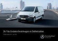 De Vito Gesloten bestelwagen en Dubbelcabine. - Mercedes-Benz