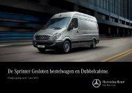 De Sprinter Gesloten bestelwagen en Dubbelcabine. - Mercedes-Benz