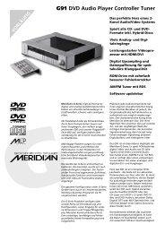 Meridian G91 Datenblatt - meridian-audio[.info]