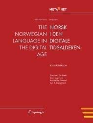 Norsk i den digitale tidsalderen - Meta-Net