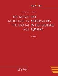Het Nederlands in het Digitale Tijdperk - Meta-Net
