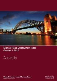 Michael Page Employment Index - Quarter 1, 2012