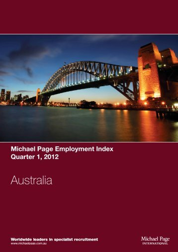 Michael Page Employment Index - Quarter 1, 2012