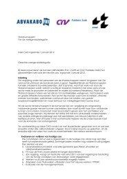 Inzet bonden CAO Waterschappen 2012 - CNV Publieke Zaak