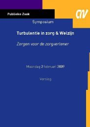 Verslag Turbulentie in Zorg en Welzijn - CNV Publieke Zaak