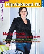 Marja Pronk: - CNV Publieke Zaak