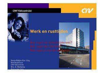 Presentatie 'werk en rusttijden'