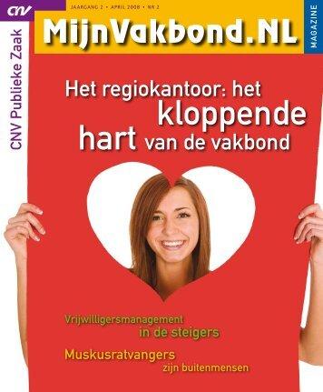 Magazine MijnVakbond.NL april 2008 - CNV Publieke Zaak