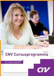 Cursusprogramma CNV Opleiding & Training 2013 - CNV Publieke ...