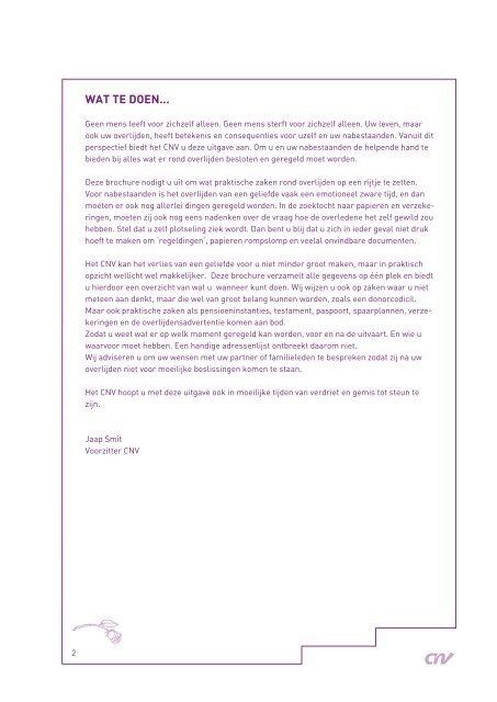 Rondom overlijden - CNV Publieke Zaak