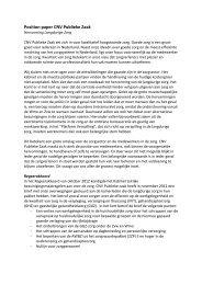 Position paper CNV Publieke Zaak langdurige zorg