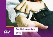 Politiek manifest 2010 - CNV Publieke Zaak