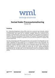 Sociaal Kader Procesautomatisering - CNV Publieke Zaak