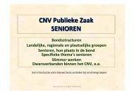Presentatie kennismaking seniorenwerk CNV Publieke Zaak
