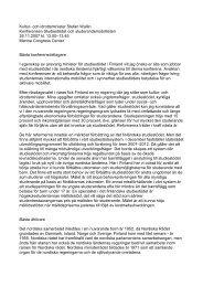 Kultur- och idrottsminister Stefan Wallin Konferensen Studiestödet ...