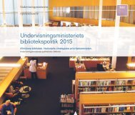 Undervisningsministeriets bibliotekspolitik 2015; Allmänna bibliotek ...