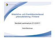 Arbetslivs- och framtidsorienterad yrkesutbildning i Finland