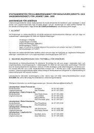 statsunderstöd för klubbverksamhet för skolelever (idrotts- och ...