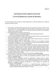 Instrucţiuni privind completarea dosarului Cererii de Rambursare ...