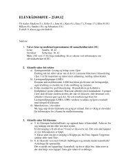 Referat elevrådsmøte 25.09.12. - Minskole.no