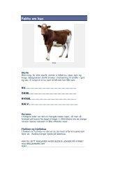Fakta om kua - Minskole.no