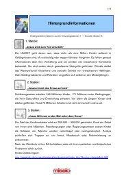 Hintergrundinformationen (PDF, 5 Seiten) - Missio