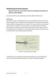 Radiofrequente thermolaesies - Máxima Medisch Centrum