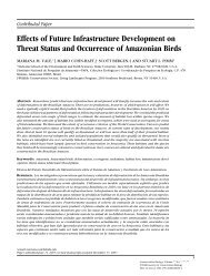 Effects of Future Infrastructure Development on Threat Status and ...