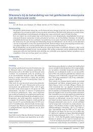 Dilemma's bij de behandeling van het geïnfecteerde aneurysma van ...