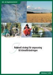 National strategi för anpassning till klimatförändringen - Maa- ja ...