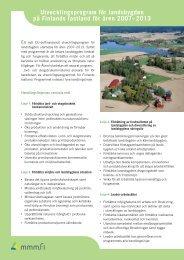 Utvecklingsprogram för landsbygden på Finlands fastland för åren ...