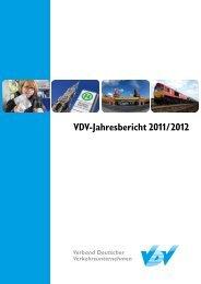 VDV-Jahresbericht 2011/2012 - Verband Deutscher ...