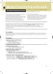Bijlage bij Mobiliteitsbrief 56 - Mobiel Vlaanderen