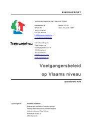 Voetgangersbeleid op Vlaams niveau - Mobiel Vlaanderen