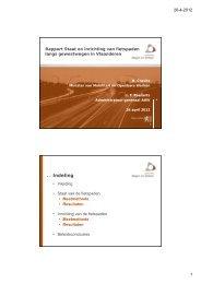 Presentatie van het rapport door ir. T. Roelants, Administrateur ...