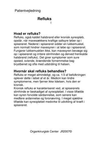 Refluks - Privathospitalet Mølholm