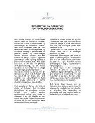 information om operation for forhudsforsnævring - Privathospitalet ...