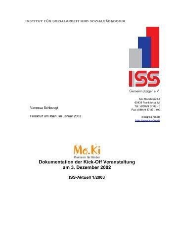 Dokumentation der Kick-Off Veranstaltung am 3. Dezember 2002