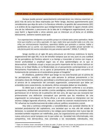PETER SENGE: EL APRENDIZAJE ... - Monografias.com