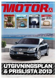 Utgivningsinformation samt annonsprislista 2013 - Motormännens ...