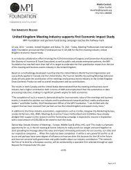 United Kingdom Meeting Industry supports first Economic Impact Study