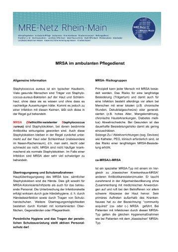 MRSA im ambulanten Pflegedienst - MRE-Rhein-Main