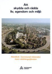 Arbetsmetodik för riskanalys inom räddningstjänst - Myndigheten för ...