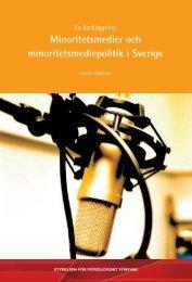 Minoritetsmedier och minoritetsmediepolitik i Sverige - Myndigheten ...