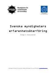 Svenska myndigheters... - Myndigheten för samhällsskydd och ...
