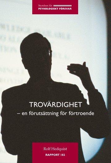 TROVÄRDIGHET - Myndigheten för samhällsskydd och beredskap