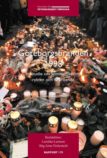 Göteborgsbranden 1998 - Myndigheten för samhällsskydd och ...