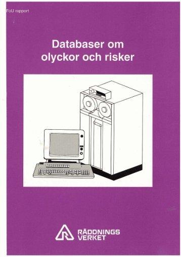Databaser om olyckor och risker