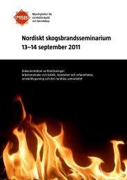 Nordiskt skogsbrandsseminarium 13–14 september 2011