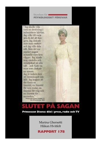 slutet på sagan prinsessan dianas död i press, radio och tv
